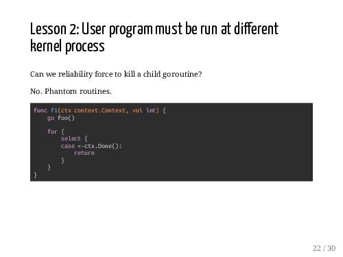 Lesson 2: User program must be run at di erent ...