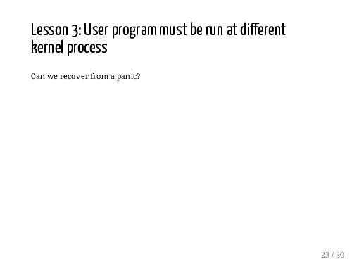 Lesson 3: User program must be run at di erent ...