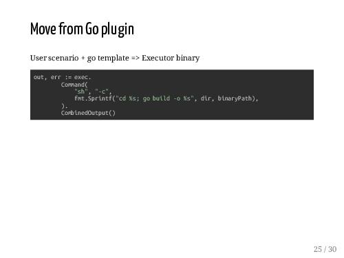 Move from Go plugin User scenario + go template...
