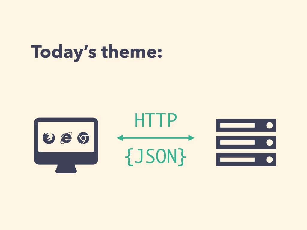 Today's theme: Ƀ Ȑ {JSON} ɂ Ʌ HTTP