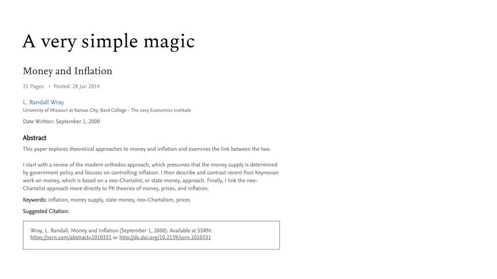 A very simple magic