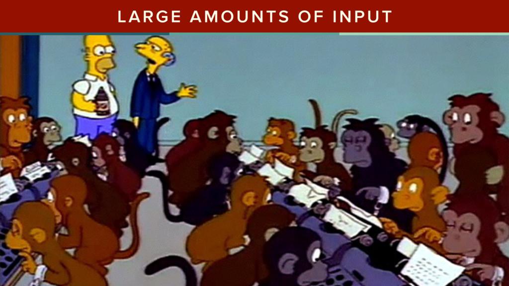 LARGE AMOUNTS OF INPUT