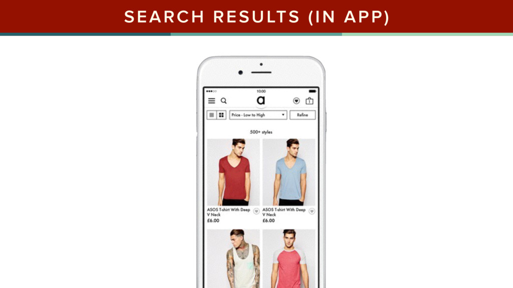 SEARCH RESULTS (IN APP)