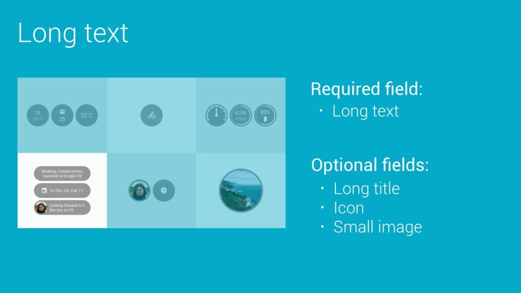 Long text Required field: Optional fields: • Long...