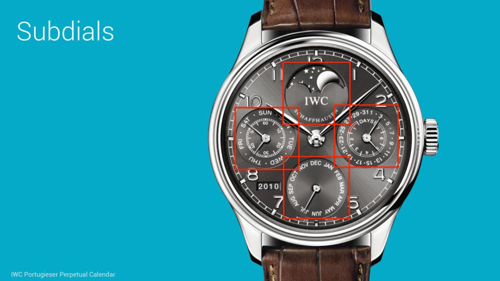 Subdials IWC Portugieser Perpetual Calendar