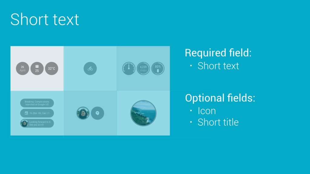 Short text Required field: Optional fields: • Sho...