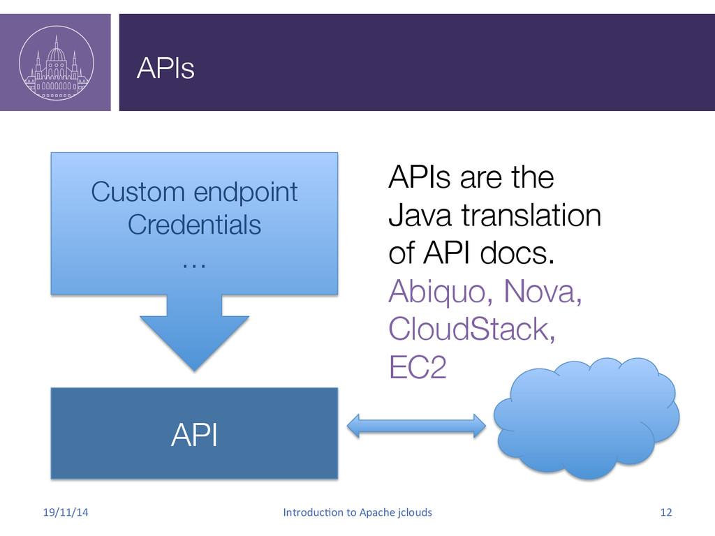 APIs 19/11/14  Introduc.on to Apache...