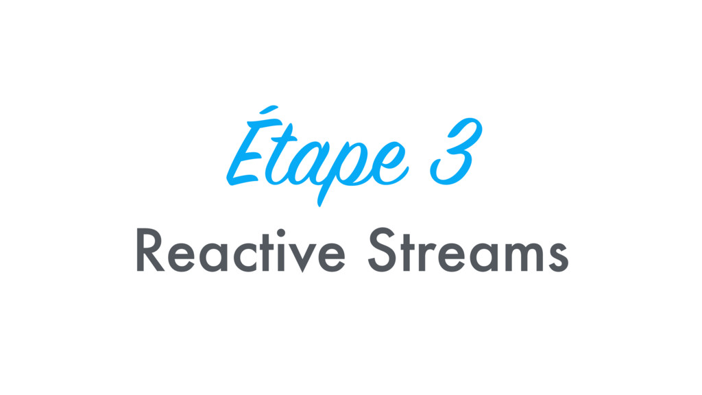 Étape 3 Reactive Streams