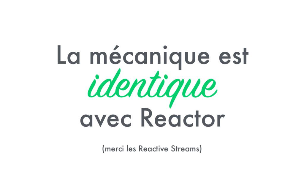 La mécanique est identique avec Reactor (merci ...