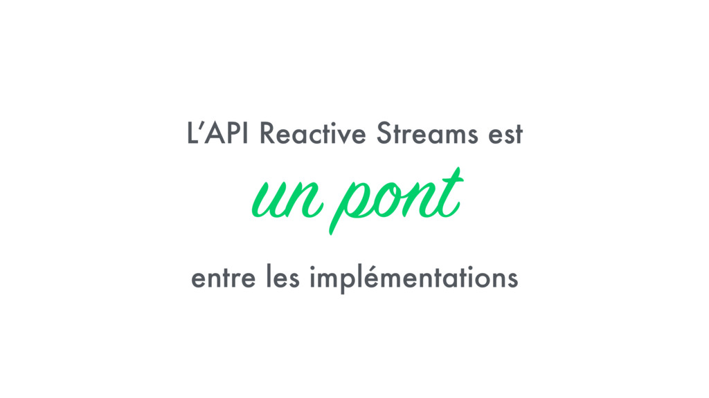 L'API Reactive Streams est 