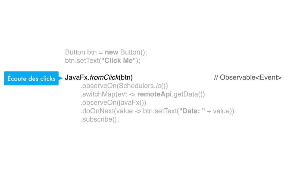 """Button btn = new Button(); btn.setText(""""Click ..."""