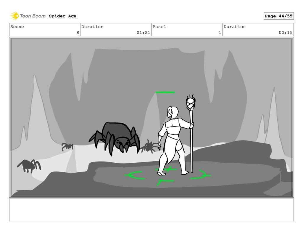 Scene 8 Duration 01:21 Panel 1 Duration 00:15 S...