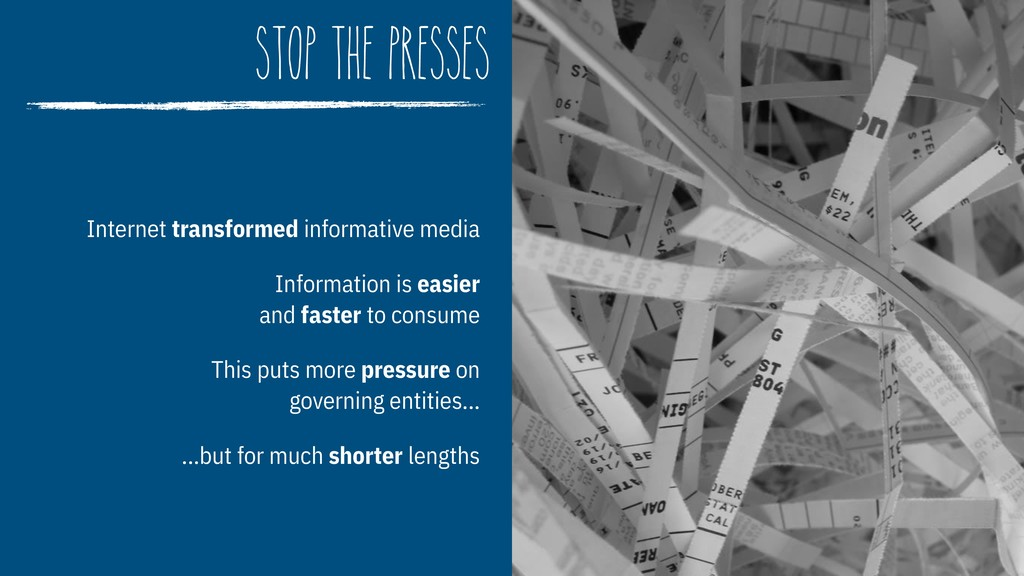 stop the presses Internet transformed informati...