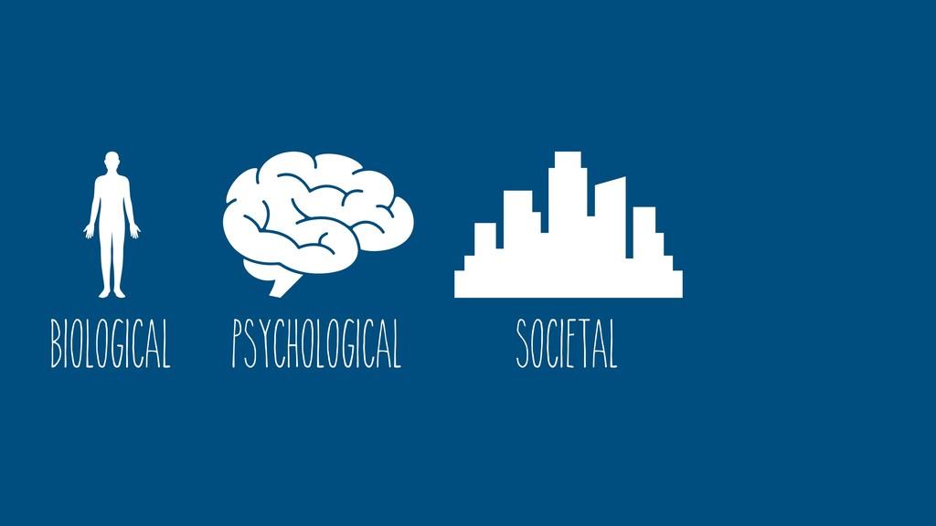 Psychological Societal Biological