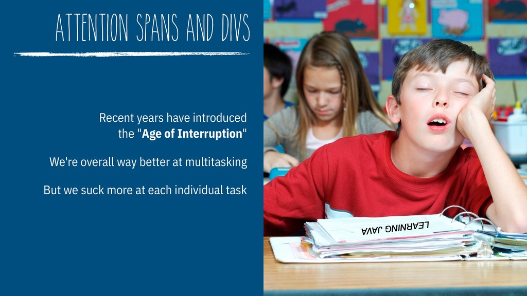 attention spans and divs Recent years have intr...