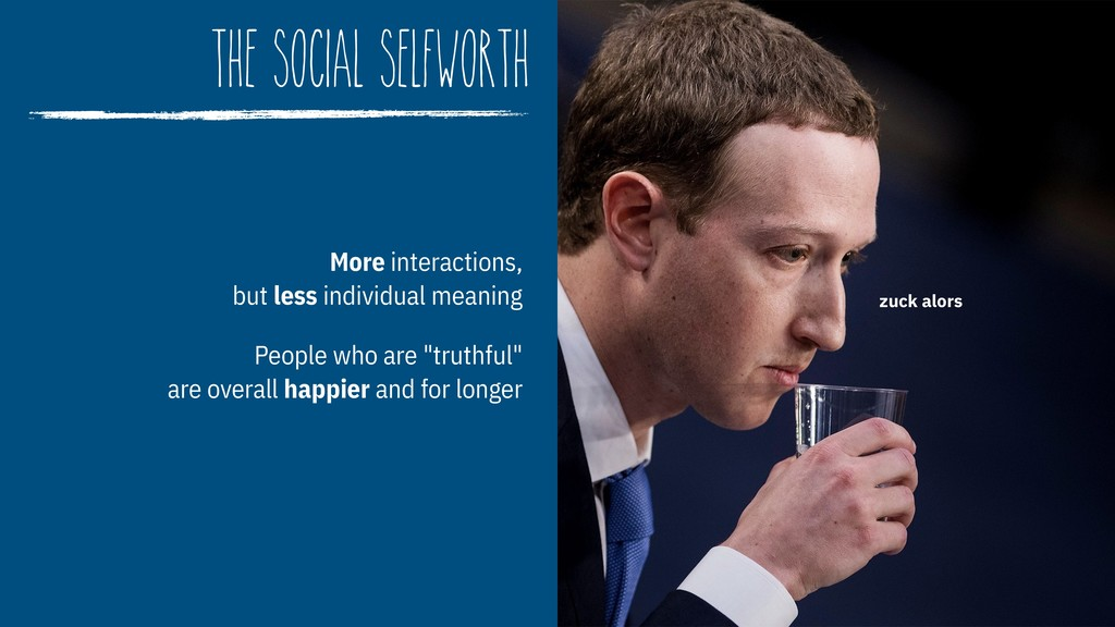 The Social Selfworth More interactions, but le...
