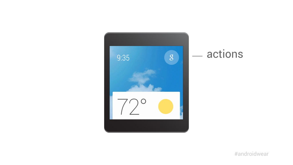 actions #androidwear