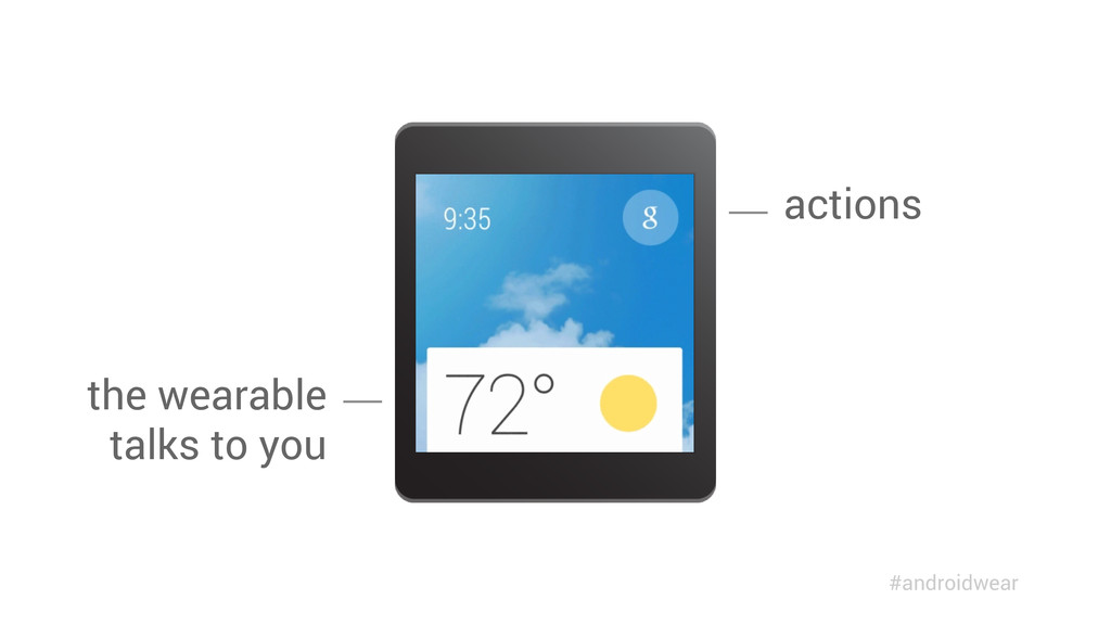 the wearable talks to you actions #androidwear