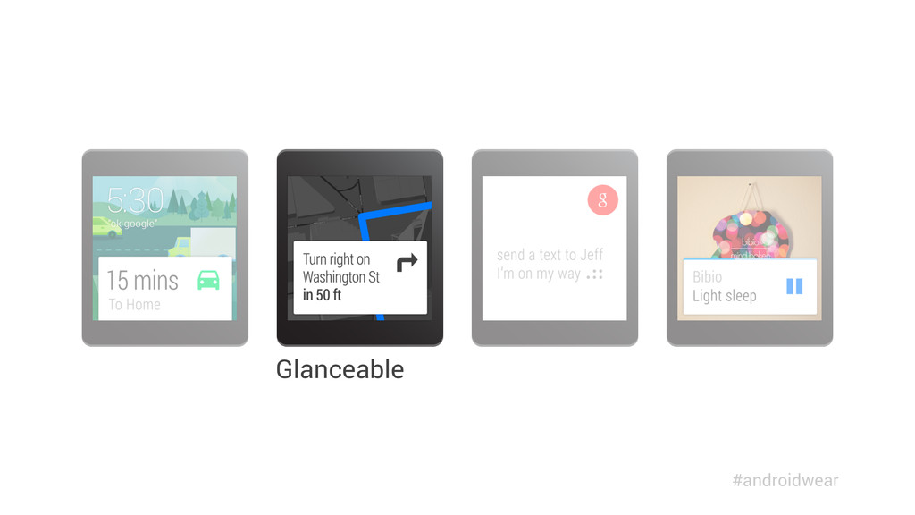 Glanceable #androidwear