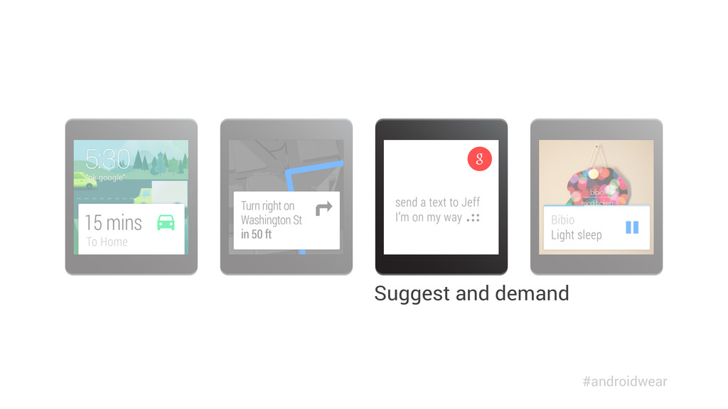 Suggest and demand #androidwear