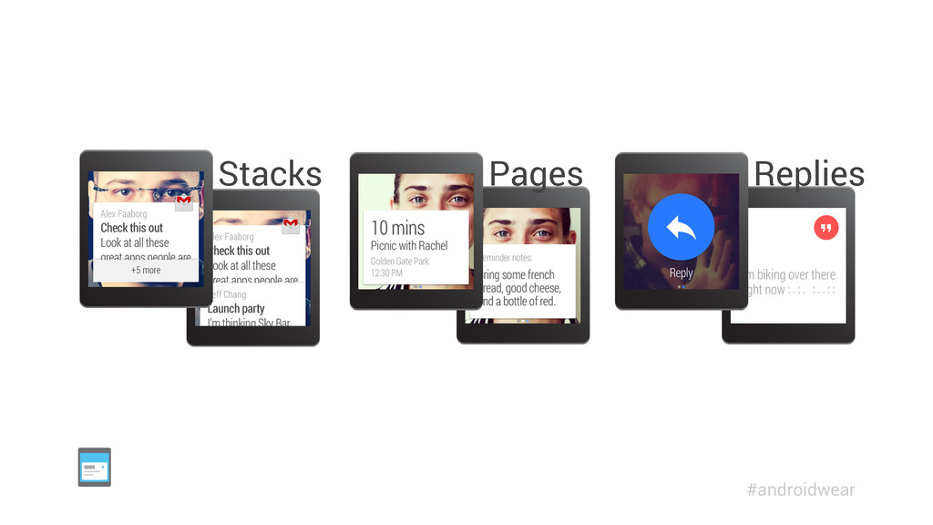 Replies Pages Stacks #androidwear