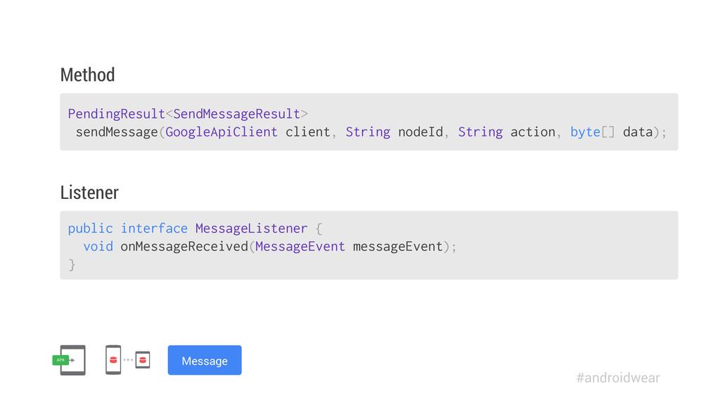 PendingResult<SendMessageResult> sendMessage(Go...