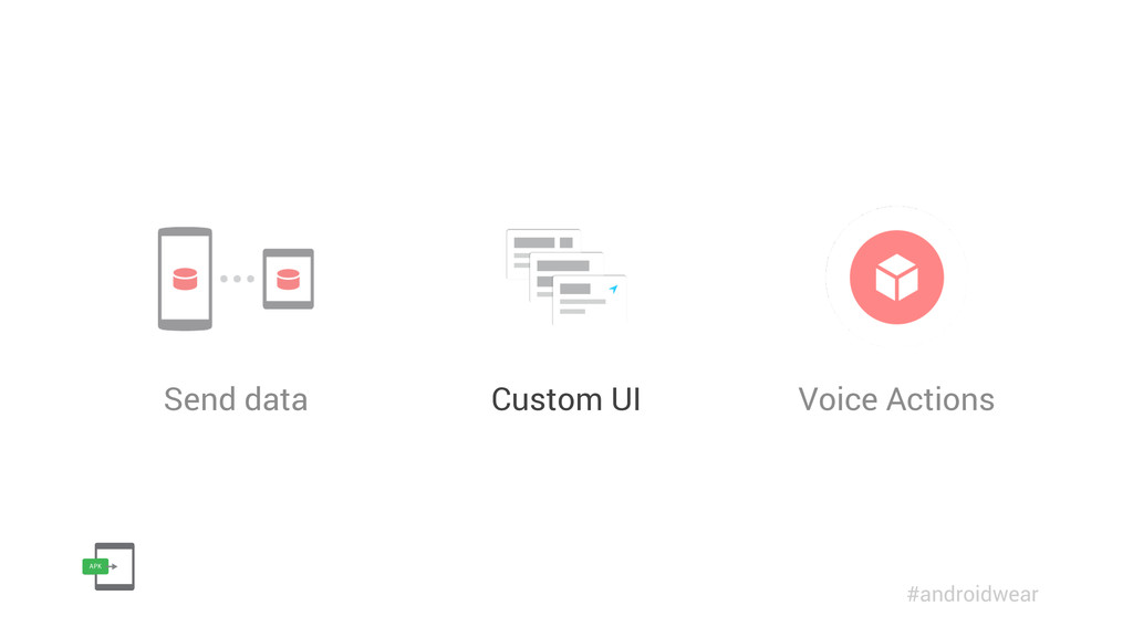Send data Custom UI Voice Actions #androidwear