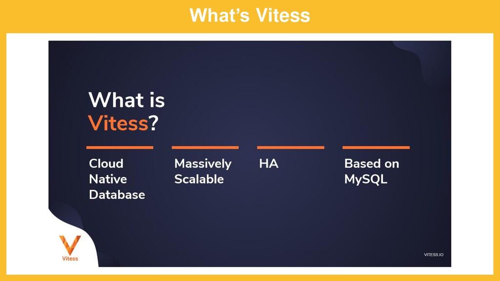 What's Vitess
