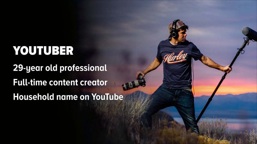 YOUTUBER 29-year old professional Full-time con...