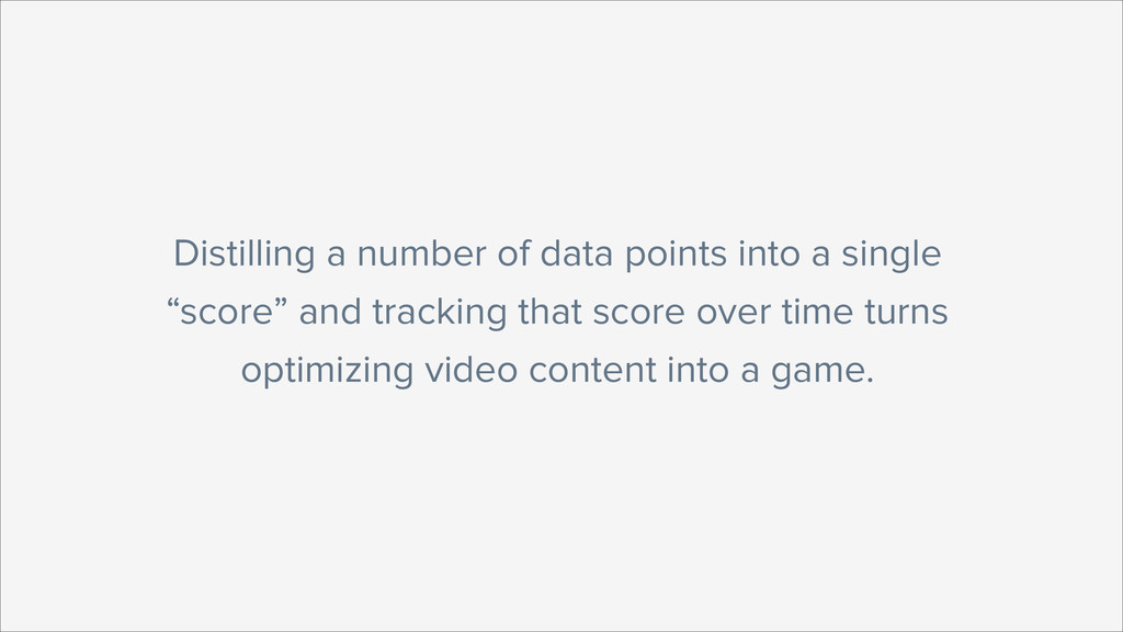 Distilling a number of data points into a singl...