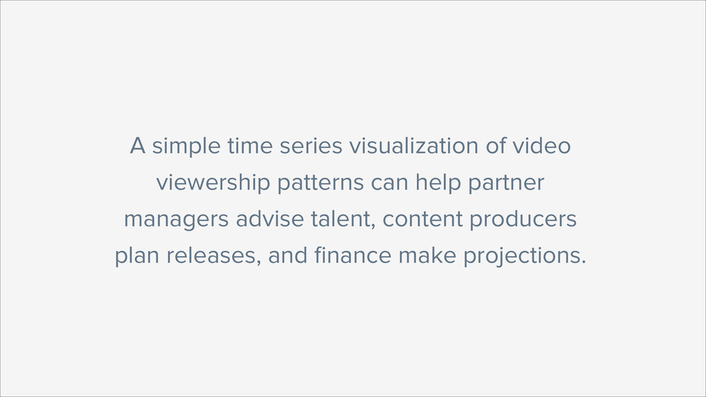 A simple time series visualization of video vie...