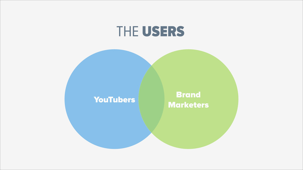 YouTubers Brand Marketers THE USERS