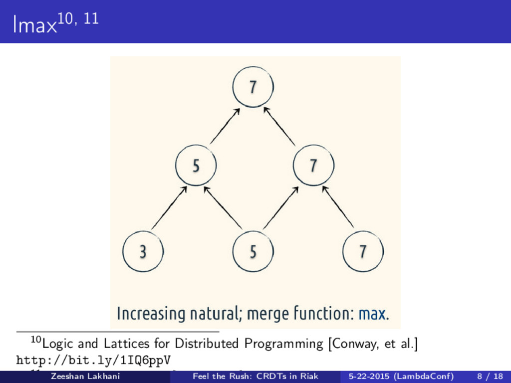 lmax10, 11 10Logic and Lattices for Distributed...