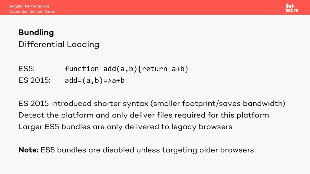 Differential Loading ES5: function add(a,b){ret...