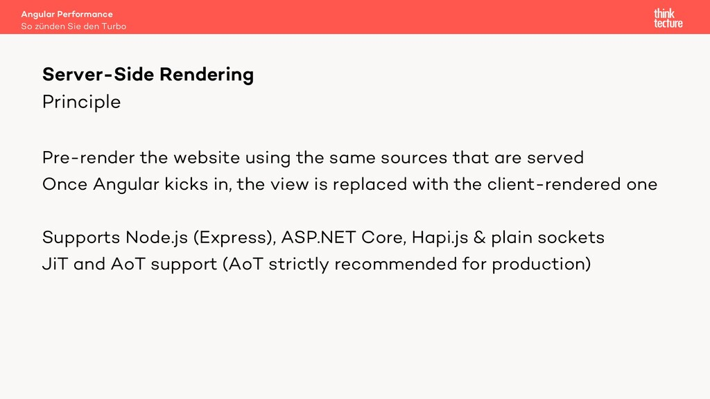 Principle Pre-render the website using the same...