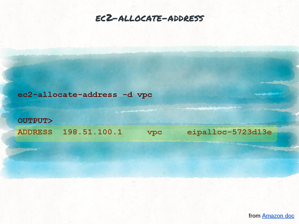 ec2-allocate-address ec2-allocate-address -d vp...