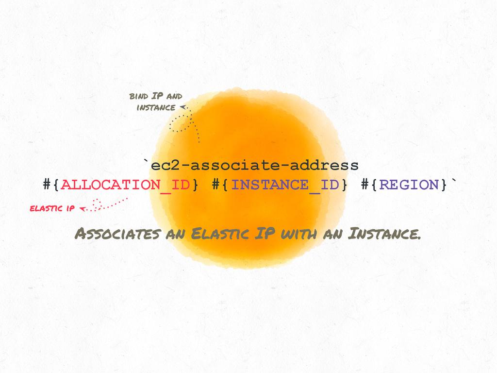 `ec2-associate-address #{ALLOCATION_ID} #{INSTA...