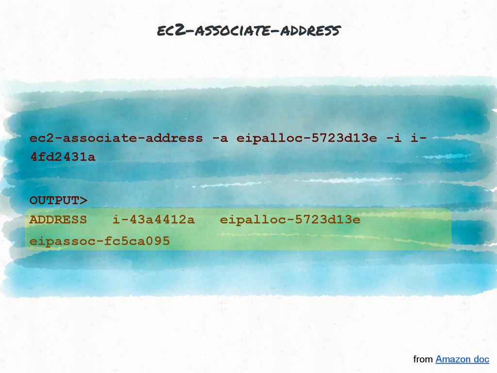 ec2-associate-address ec2-associate-address -a ...