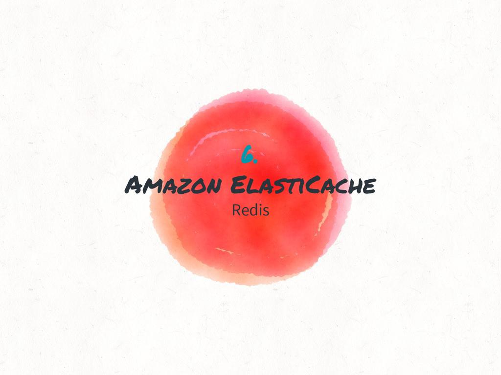 6. Amazon ElastiCache Redis