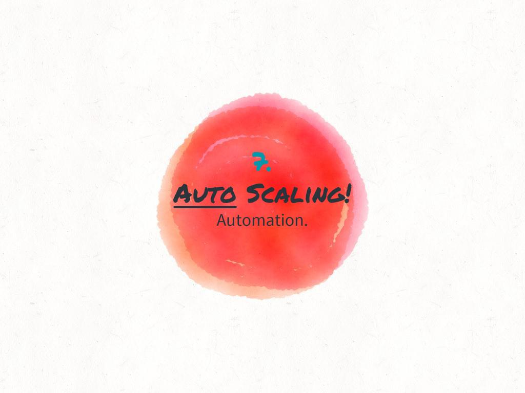 7. Auto Scaling! Automation.