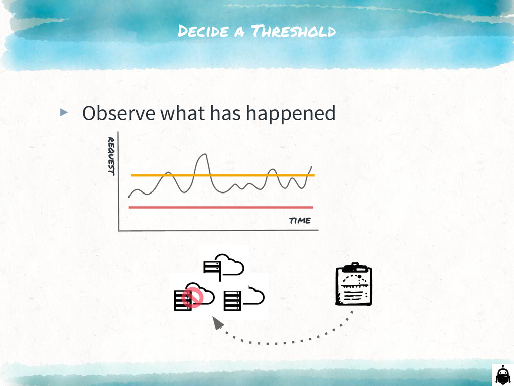 Decide a Threshold ▸ Observe what has happened ...