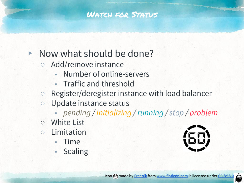 Watch for Status ▸ Now what should be done? ○ A...