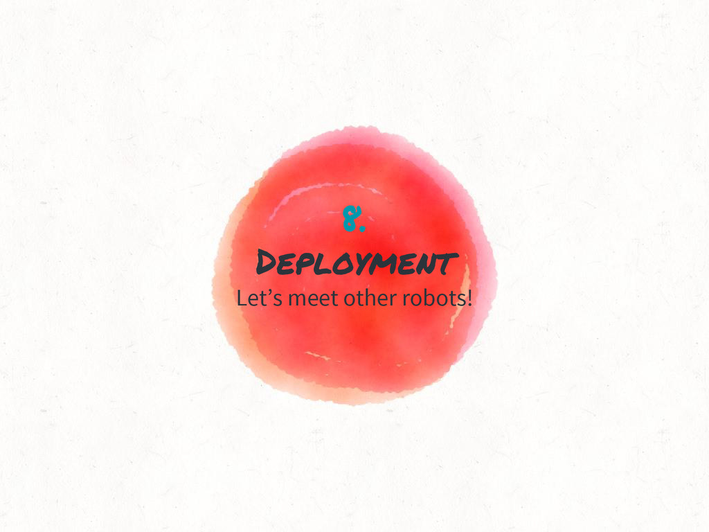 8. Deployment Let's meet other robots!