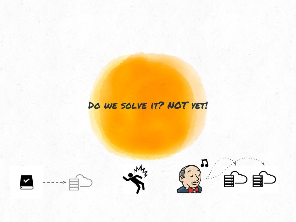 Do we solve it? NOT yet!