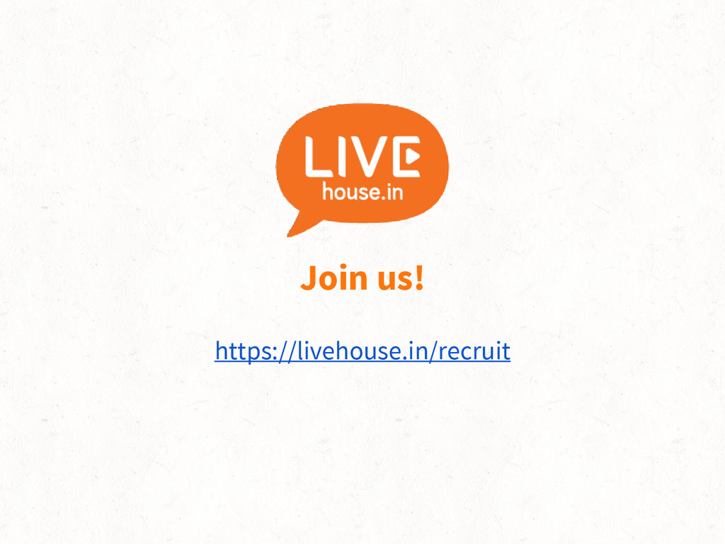 Join us! https://livehouse.in/recruit
