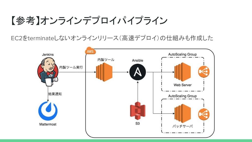 【参考】オンラインデプロイパイプライン EC2をterminateしないオンラインリリース(高...