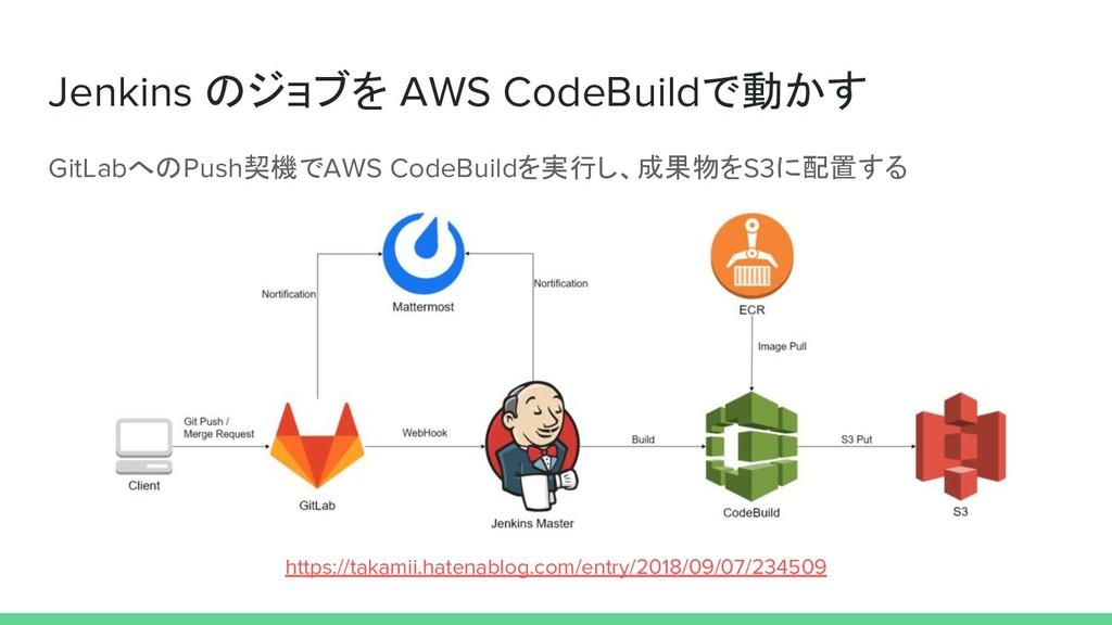 Jenkins のジョブを AWS CodeBuildで動かす GitLabへのPush契機で...