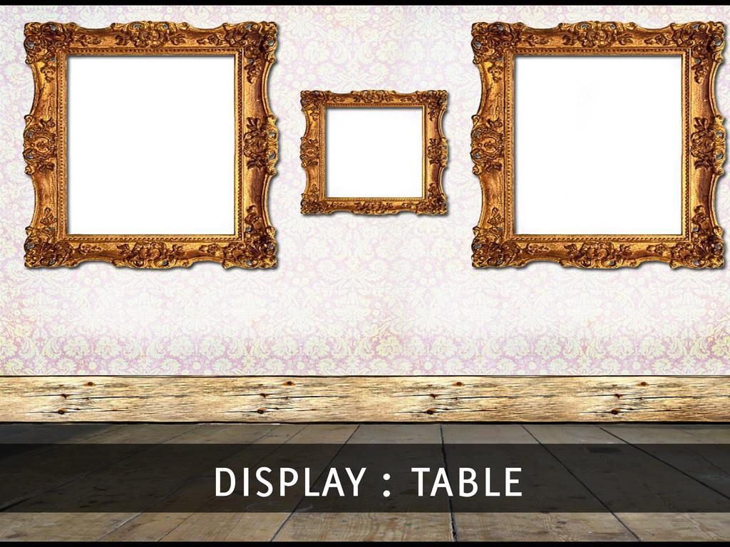display : table