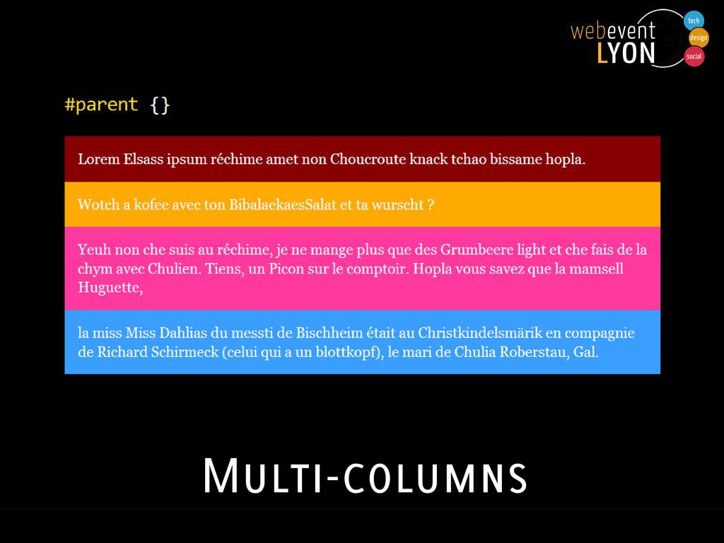 Multi-columns