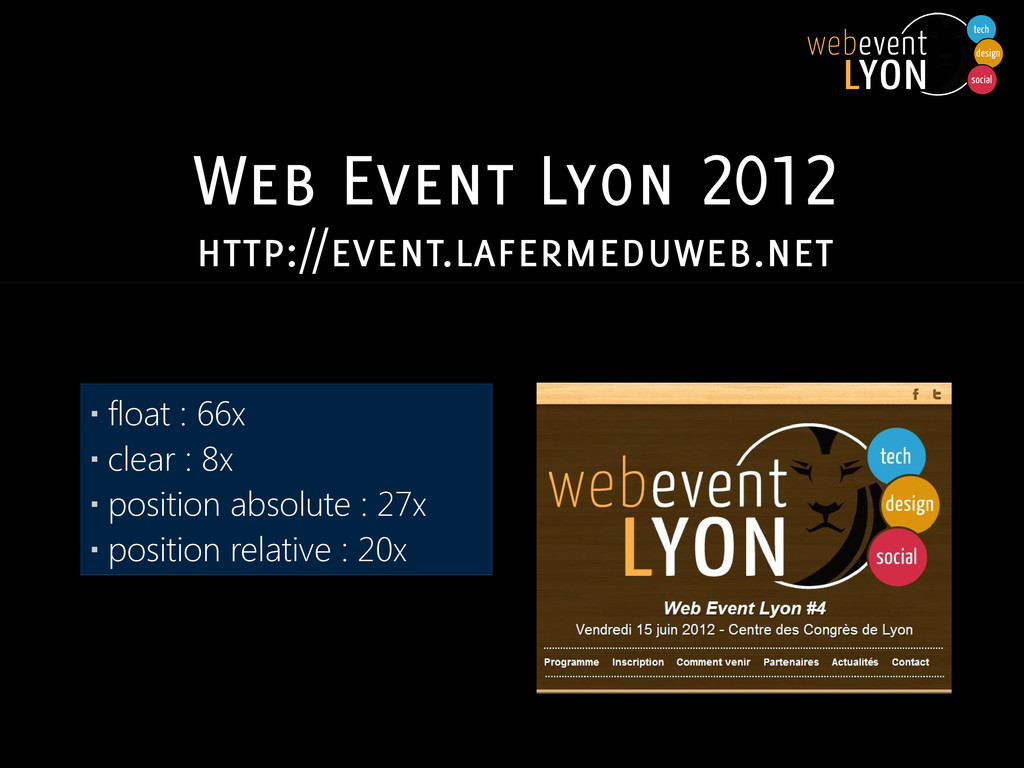Web Event Lyon 2012 http://event.lafermeduweb.n...